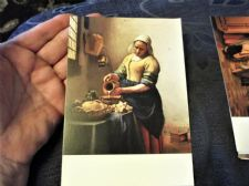 COLLECTABLE POSTCARD RIJKSMUSEUM AMSTERDAM VERMEER THE KITCHEN MAID 9